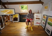 Myself in the Hay Loft Studio