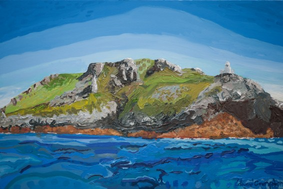 Up Close, Lundy Island 61 x 92 cm Oil on canvas 2015